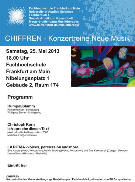 Chiffren-Plakat